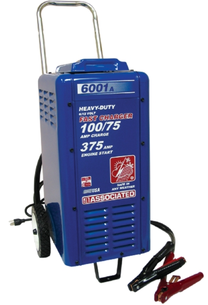 Associated 6/12V Wheeled Commercial Fast Charger (100/75 Amps) - ASO-6001A
