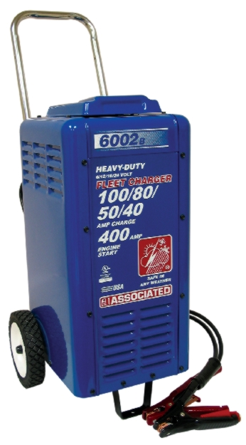 Associated 6/12/18/24V Wheeled Commercial Fleet Charger (100/80/50/40 Amps) - ASO-6002B