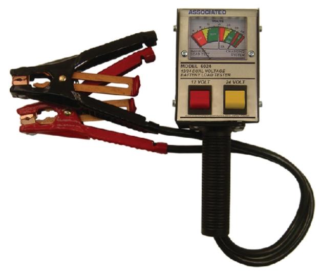 Associated Battery Tester : Associated v hand held analog alternator battery