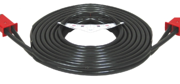 Associated 12' Heavy-Duty Dual Plug-In Cable (1 AWG) - ASO-6148