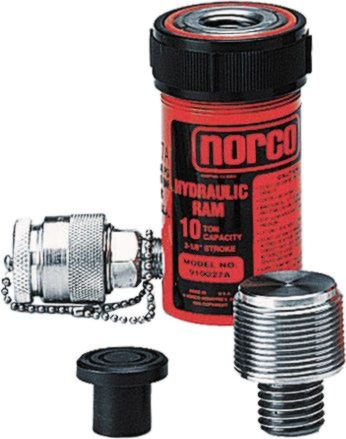 Norco 10-Ton Short Single-Acting Ram with adapters - NOR-910027A