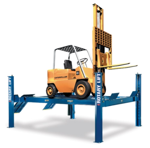 Rotary Four-Post Forklift Lift (25,000lbs.-Capacity Heavy Duty) - R-RFL25