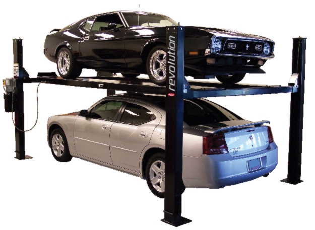 Rotary Four-Post Auto Lift (9,000lbs.-Capacity Enthusiast Revolution) - R-RFP9