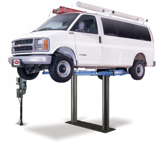 Rotary Two-Post Auto Lift (12,000lbs.-Capacity Inground Electric Hydraulic) - R-SL212