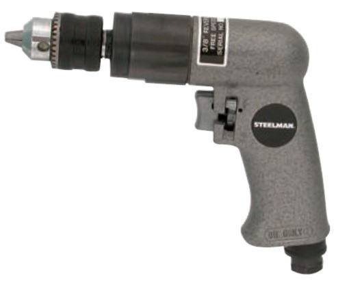 "Steelman 3/8"" Heavy-Duty Reversible Air Drill - STL-1725"