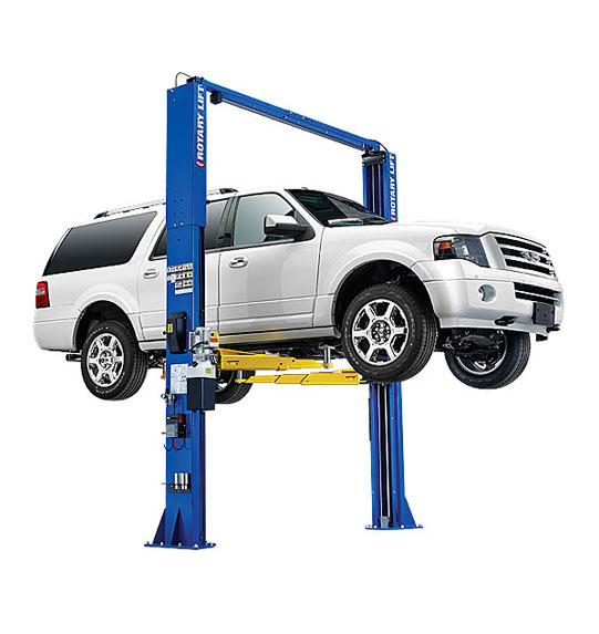 Rotary Two-Post Auto Lift (12,000lbs.-Capacity Symmetric, 2' Extended) - R-SPO12-TA-EH2