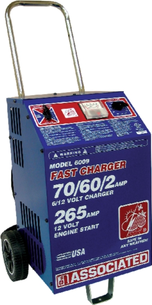 Associated 6/12V Wheeled Heavy-Duty Fast Charger (70/60/2 Amps) - ASO-6009