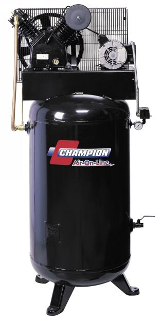 Champion 5 HP Two-Stage Air Compressor, 208V-3Ph - CHAM-5V80E-208-3