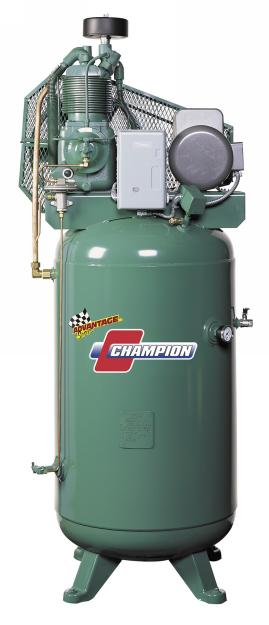 Champion 7.5 HP Advantage Air Compressor, 208V-3Ph - CHAM-VR7F-8-208-3