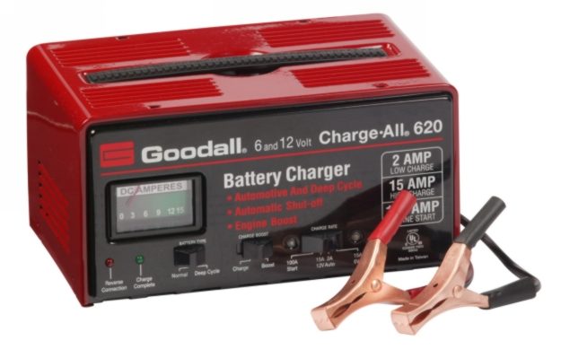 Goodall 15/2/100 Amp 6/12 V Fully Automatic Benchtop Charger - GDAL-51-620