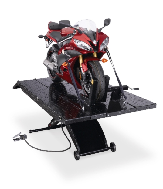 Rotary Pad-Style Motorcycle Lift (1000lbs.-Capacity Revolution) - R-RXLDT