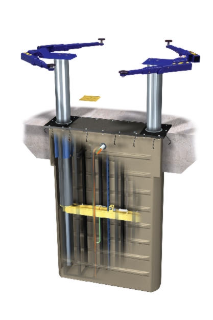 Rotary Two-Post Auto Lift (10,000lbs.-Capacity Inground Electric Hydraulic) - R-SL210i-RA