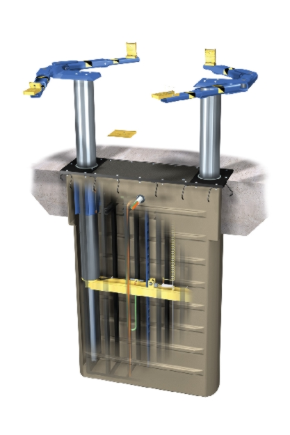 Rotary Two-Post Auto Lift (10,000lbs.-Capacity Inground Electric Hydraulic) - R-SL210i-FA