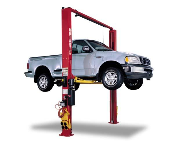 Rotary Two-Post Auto Lift (10,000lbs.-Capacity Symmetric, 2' Extended) - R-SPO10-EH2