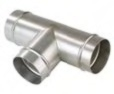 "Transair 3"" Equal Tee Connector - TRAN-RX04-L1-00"