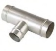 "Transair 3"" Reducing Tee Connector - TRAN-RX24-L1-40"