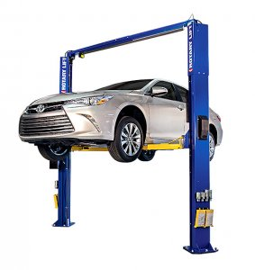 Rotary Two-Post Auto Lift (10,000lbs.-Capacity Asymmetric, 1' Extended) - R-SPOA10-TA-EH1